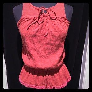 Tops - Vintage Anxiety peplum style red sleeveless